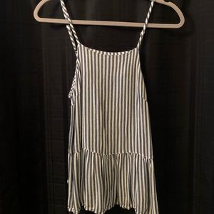 Blue and White Striped Tank Top